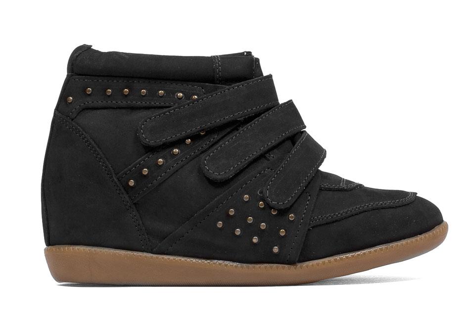 Sneakers em nobuck preto - milano.com.br